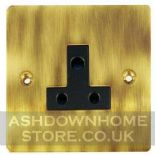 Flat Plate Antique Bronze 2 & 5 Amp Plug Sockets